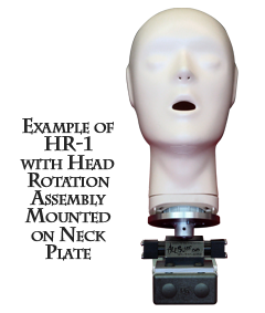 Example of HR-1 with Head Rotation Assembly Mounted on Neck Plate