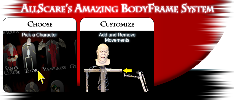 AllScare's Amazing Body Frame System - Customize