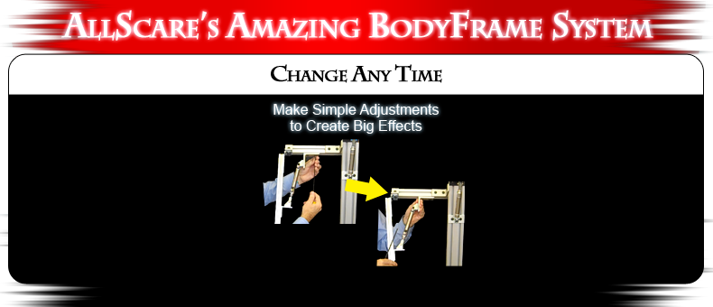 AllScare's Amazing Body Frame System - Change Any Time